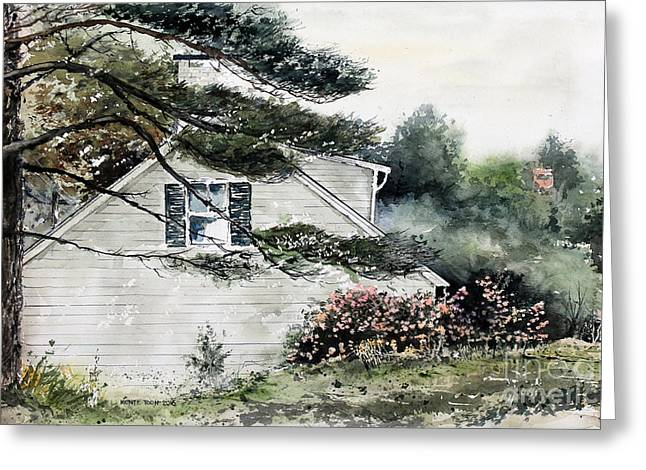 Springtime At Round Pond Maine Greeting Card by Monte Toon