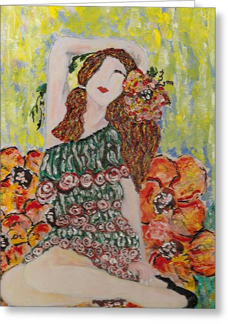 Springtime Greeting Card by Cynda LuClaire