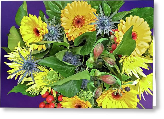 Springtime - Flower Bouquet Greeting Card