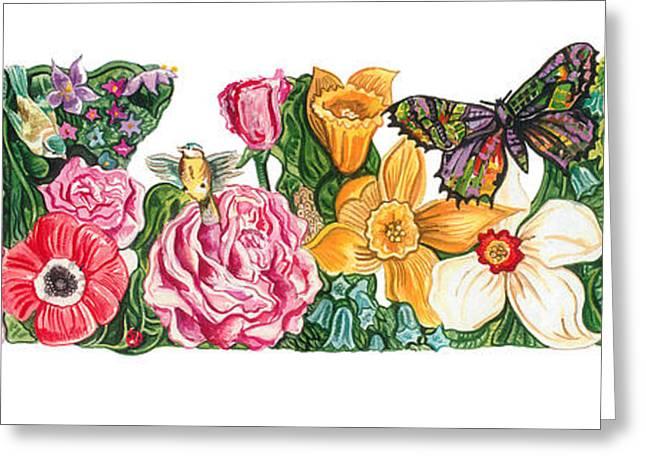 Springtime Flowers Greeting Card by John Keaton