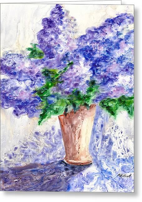 Springtime Fragrance Greeting Card by Marsha Elliott