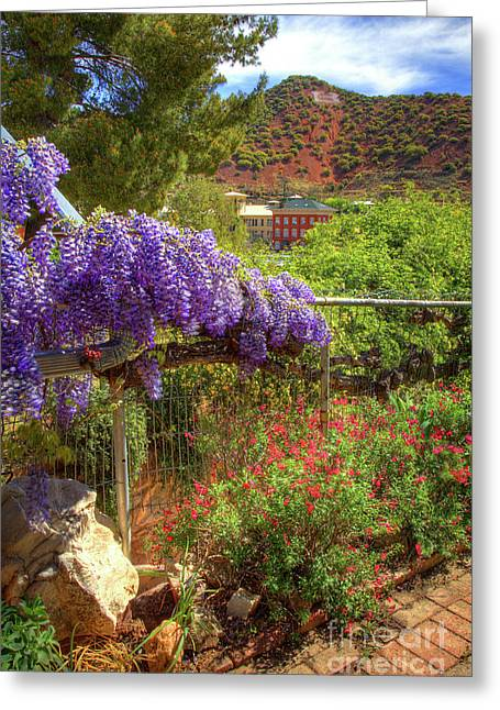 Springtime In Old Bisbee Arizona Greeting Card