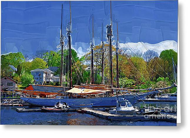 Springtime In The Harbor Greeting Card