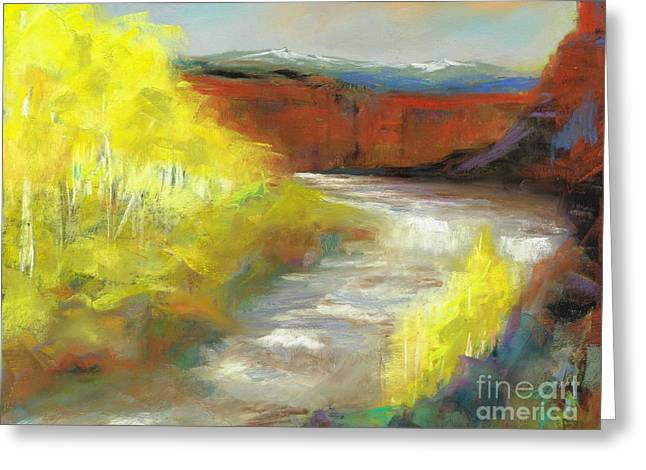 Springtime In The Rockies Greeting Card by Frances Marino