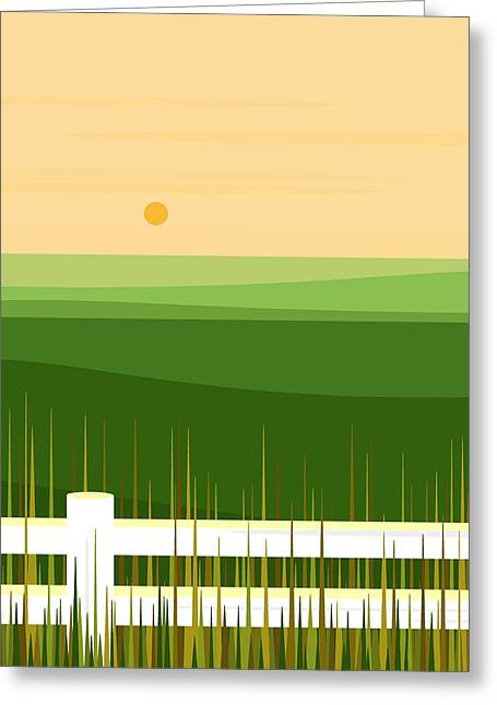 Springtime In The Rolling Hills Greeting Card