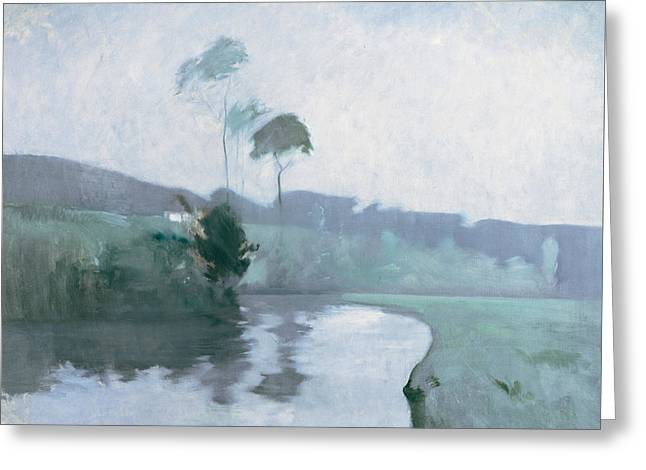 Springtime Greeting Card by John Henry Twachtman