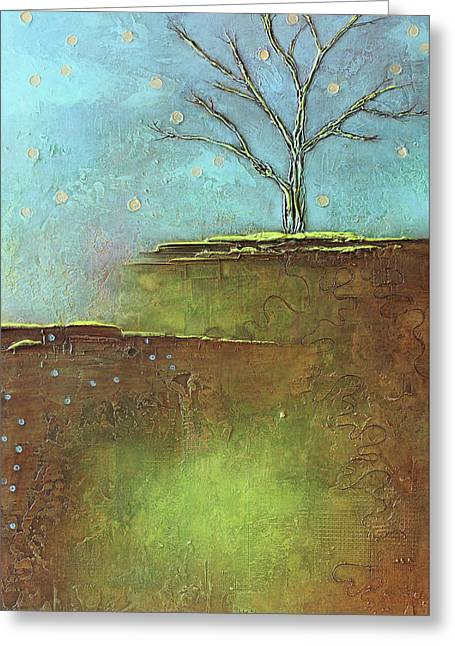 Springtime Leafless Tree Greeting Card by Heather Haymart
