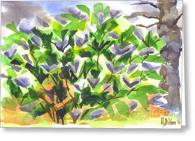 Greeting Card featuring the painting Springtime Lilac Abstraction by Kip DeVore