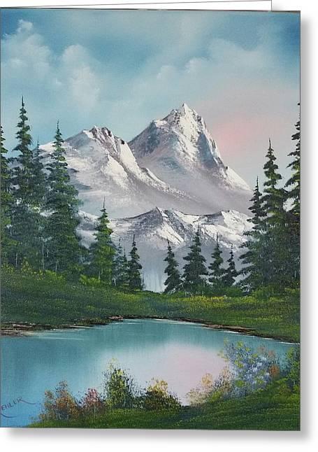 Springtime Mountain Greeting Card