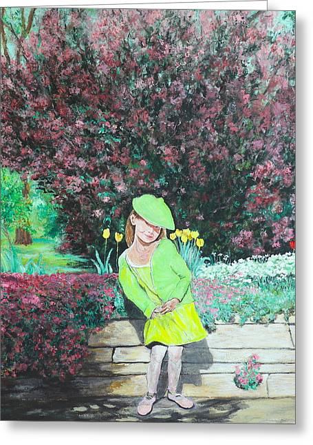Springtime On Iris Greeting Card