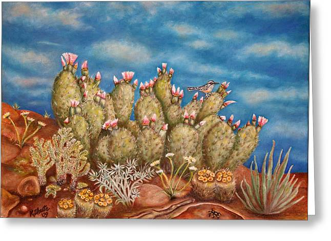 Springtime Succulence Greeting Card by Kathy Shute
