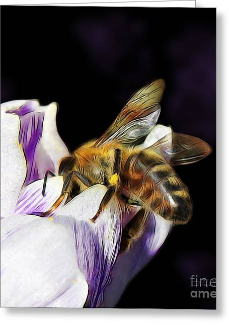 Springtime Visitor Greeting Card by Jutta Maria Pusl
