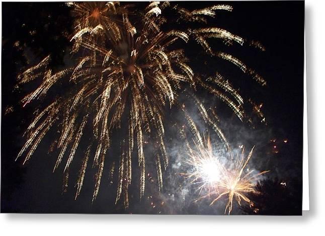 Sprinkler In The Sky Greeting Card by Rosanne Bartlett