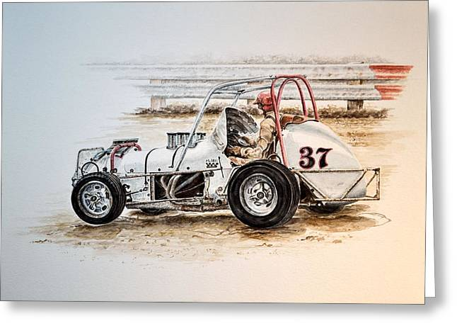 Sprint N Dirt Greeting Card