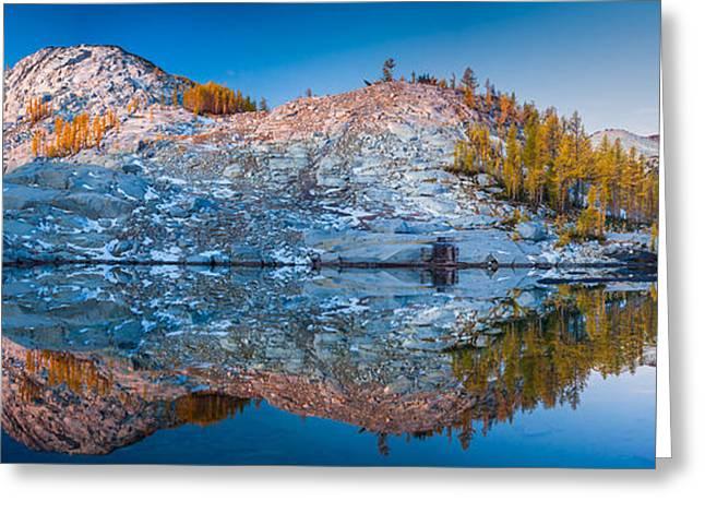 Sprite Lake Panorama Greeting Card by Inge Johnsson