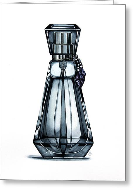 Perfume Bottle Greeting Cards - Spritz Greeting Card by Christina Meeusen