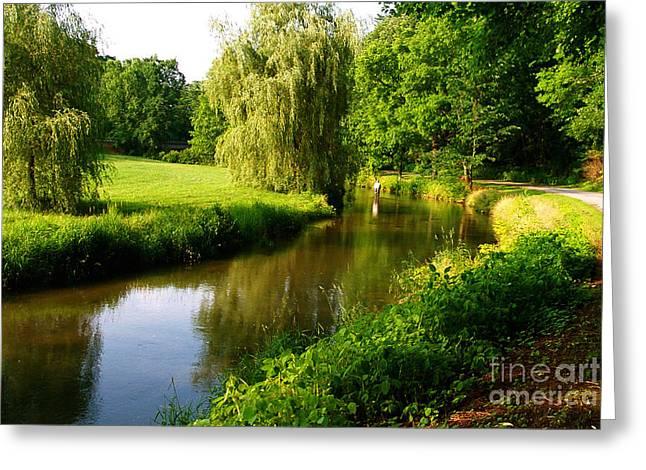 Spruce Creek Great Fishing In Pa 6 Greeting Card by Heinz G Mielke