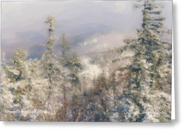 Spruce Peak Summit At Sunday River Greeting Card by Bill McEntee