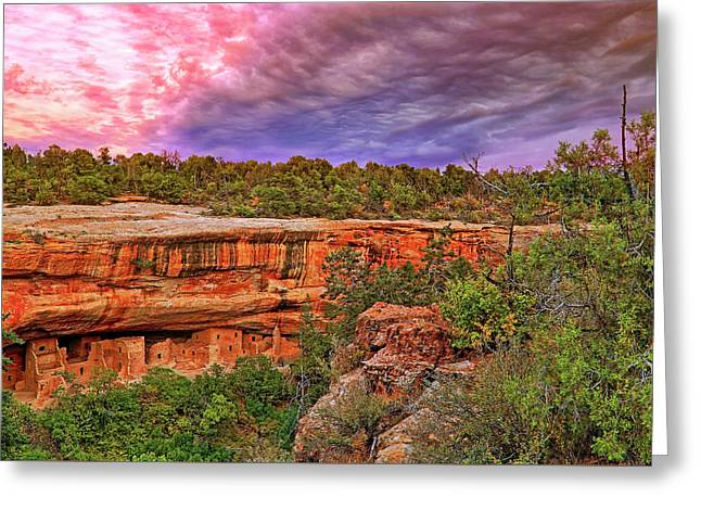Spruce Tree House At Mesa Verde National Park - Colorado Greeting Card by Jason Politte