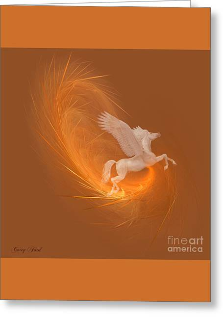 Spun From Gold Greeting Card by Corey Ford