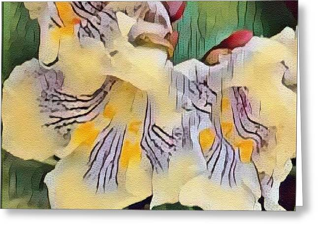 Spun Gold Greeting Card by Kathie Chicoine