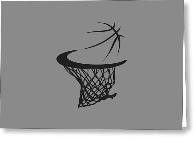 Spurs Basketball Hoop Greeting Card by Joe Hamilton