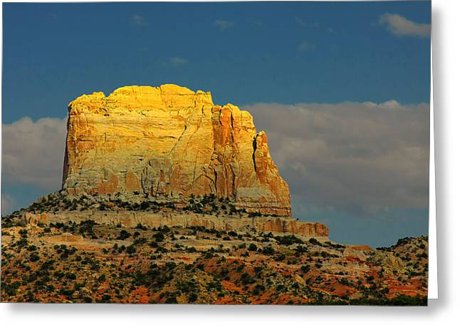 Square Butte - Navajo Nation Near Kaibeto Az Greeting Card by Christine Till