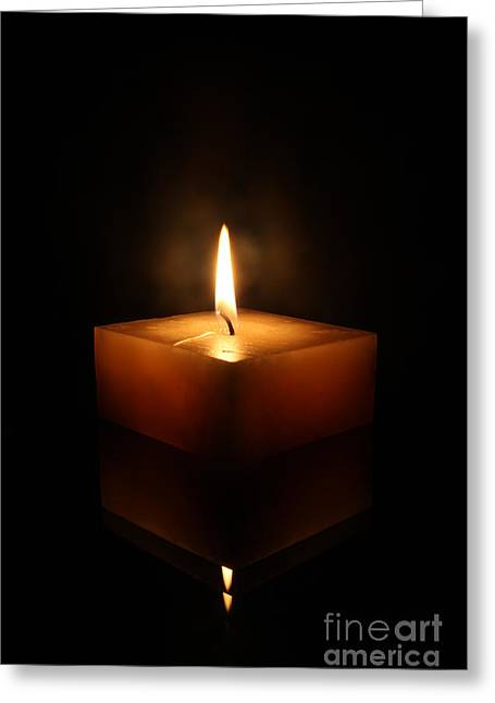 Square Candle Greeting Card