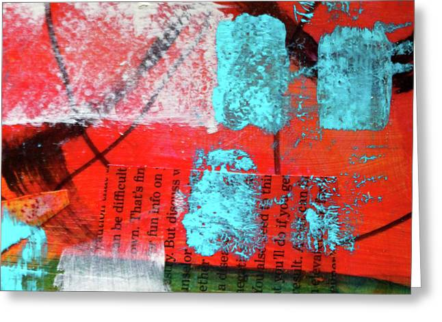 Greeting Card featuring the mixed media Square Collage No. 10 by Nancy Merkle