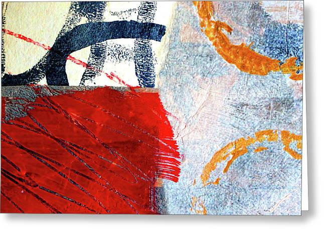 Greeting Card featuring the painting Square Collage No. 3 by Nancy Merkle