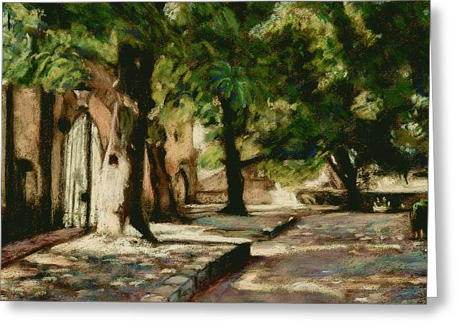Square In Bruges Greeting Card by Judy Adamson