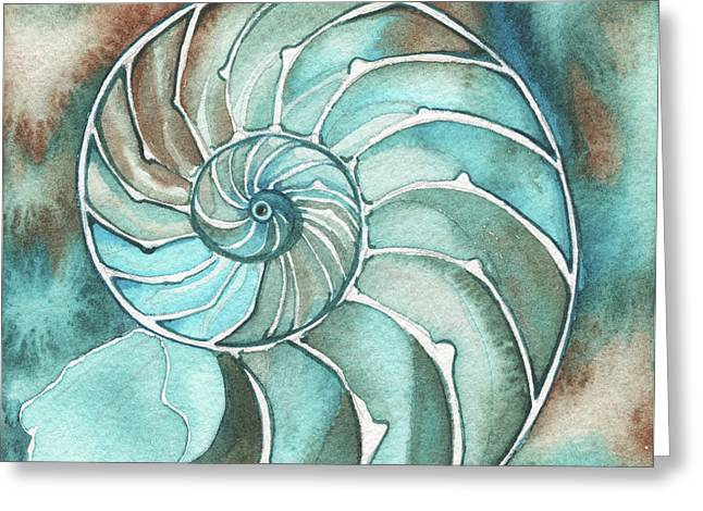 Square Nautilus Greeting Card