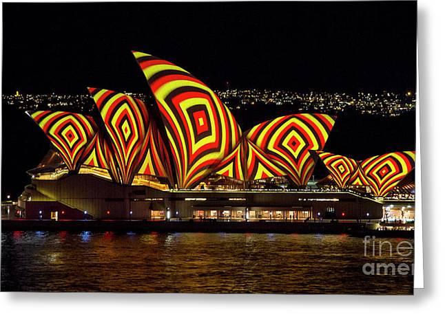 Square Sails - Sydney Opera House - Vivid Sydney Greeting Card