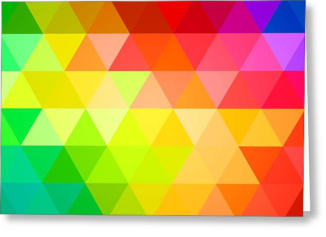 Square Spectrum Greeting Card by Radu Bercan