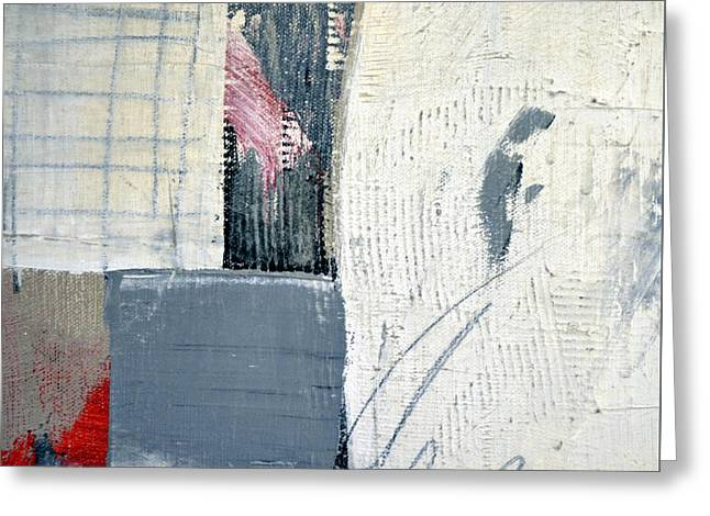 Greeting Card featuring the painting Square Study Project 12 by Michelle Calkins