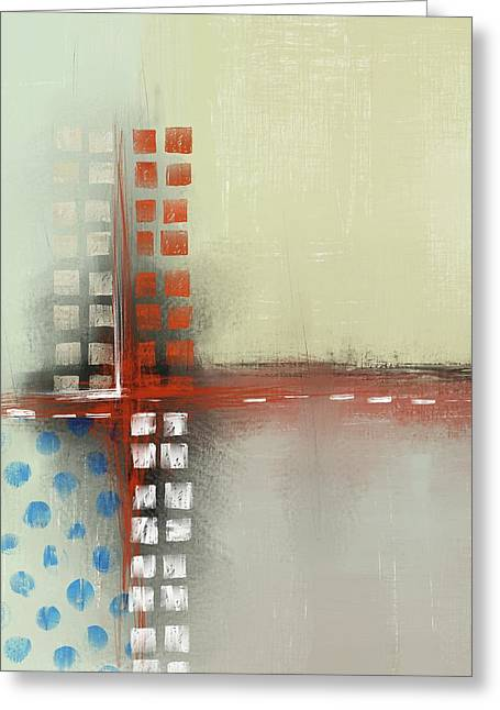Greeting Card featuring the mixed media Square The Circles by Eduardo Tavares