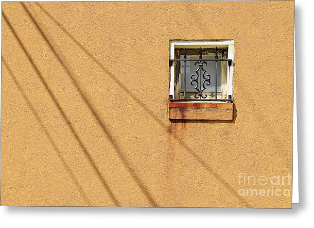 Square Window Greeting Card by Patrick M Lynch