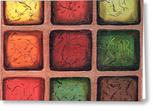 Squared In Bronze Greeting Card