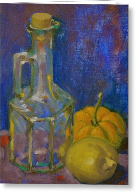Squash And Lemon Greeting Card by Chris  Riley