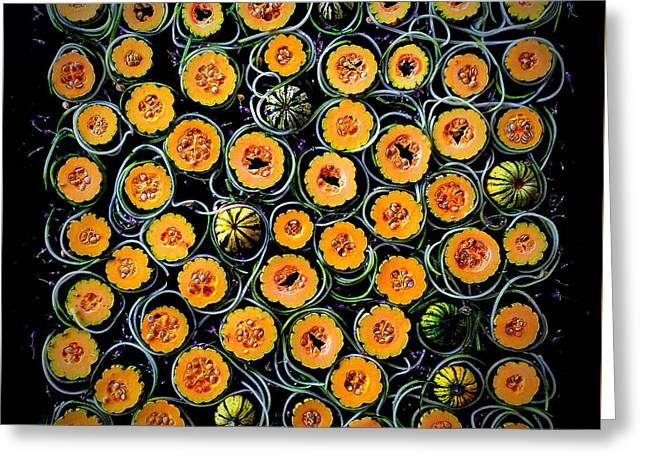 Squash And Zucchini Patters Greeting Card