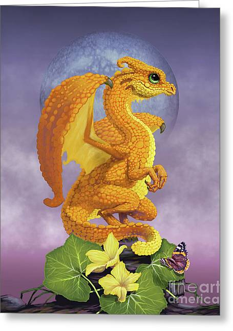 Squash Dragon Greeting Card by Stanley Morrison