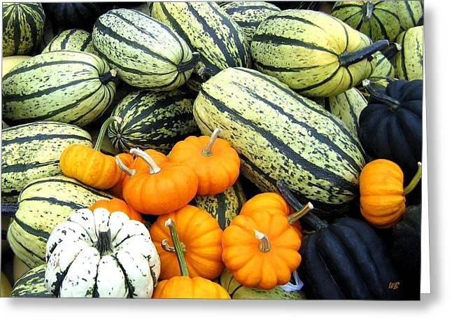 Squash Harvest Greeting Card by Will Borden