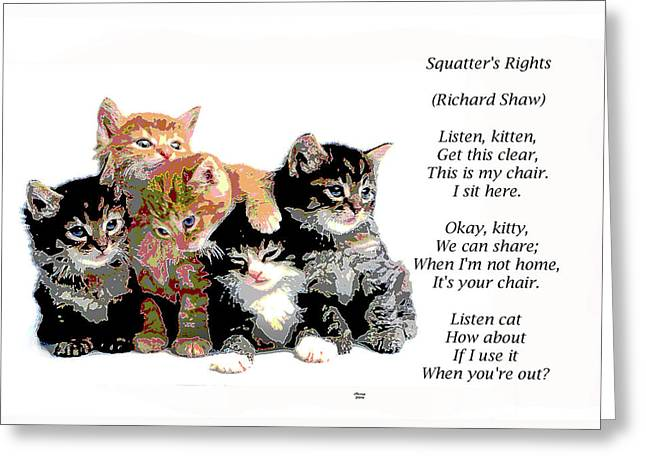 Squatter's Rights Greeting Card
