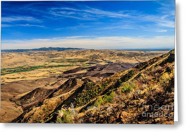 Squaw Butte View Hdr-3 Greeting Card by Robert Bales