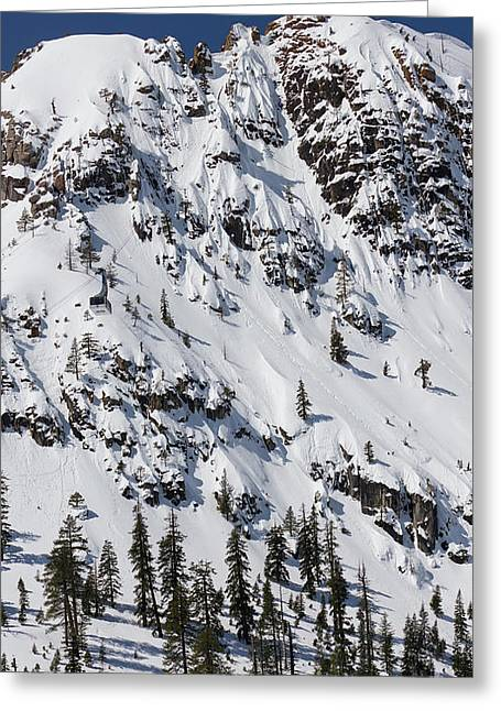 Squaw Valley Tram Hill  Greeting Card by Dustin K Ryan