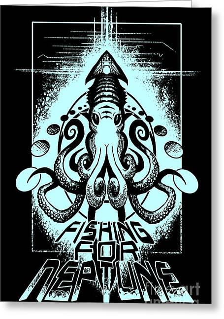 Squid Greeting Card by Tony Koehl