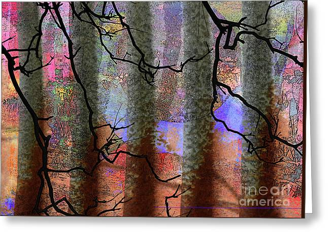 Squiggles And Lines Greeting Card by Robert Ball