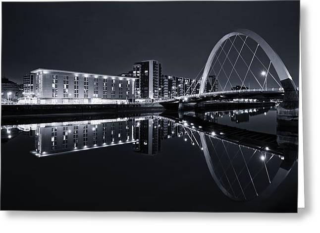 Squinty Bridge Glasgow Greeting Card