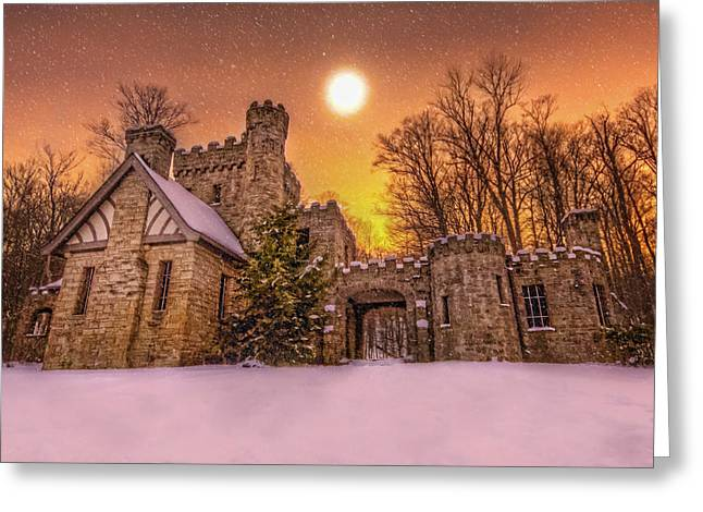 Squires Castle In The Winter Greeting Card by Brent Durken