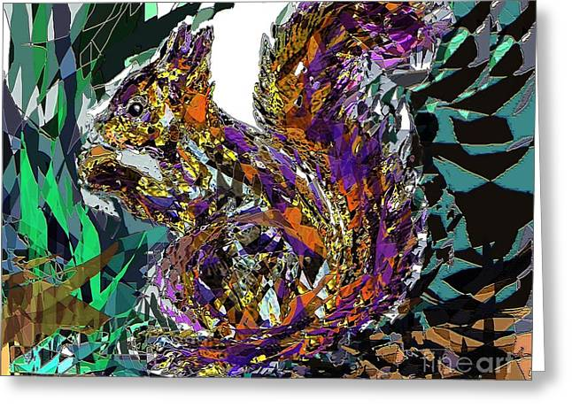 Squirrel Greeting Card by Navo Art